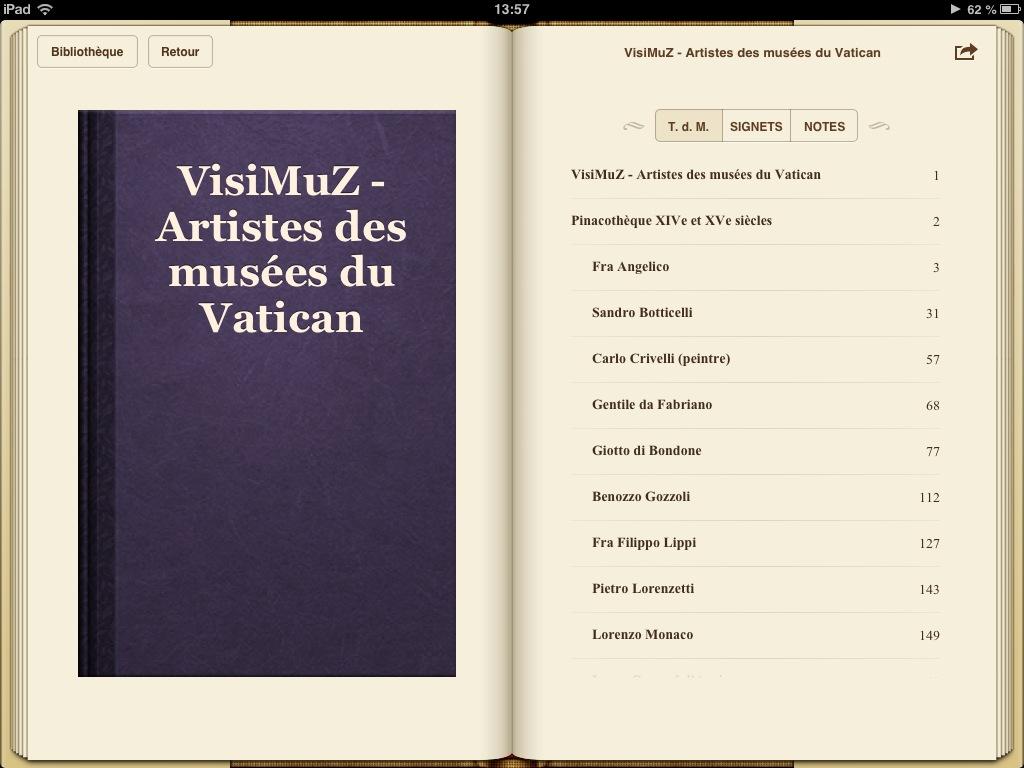 Guide Vatican - biographies des artistes