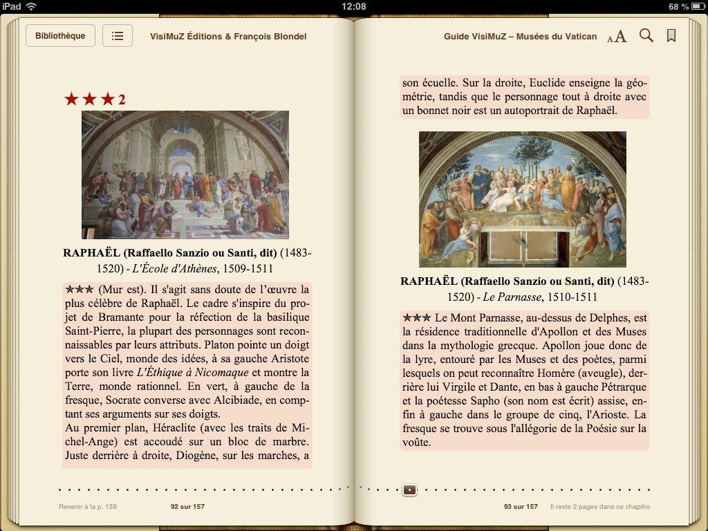 Guide VisiMuZ musées Vatican page Raphaël