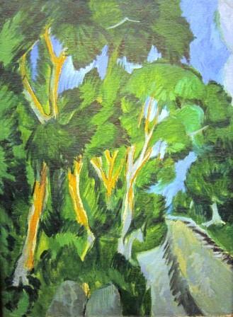 Vig_Kirchner__Paysage de Fehmarn avec des arbres_8313