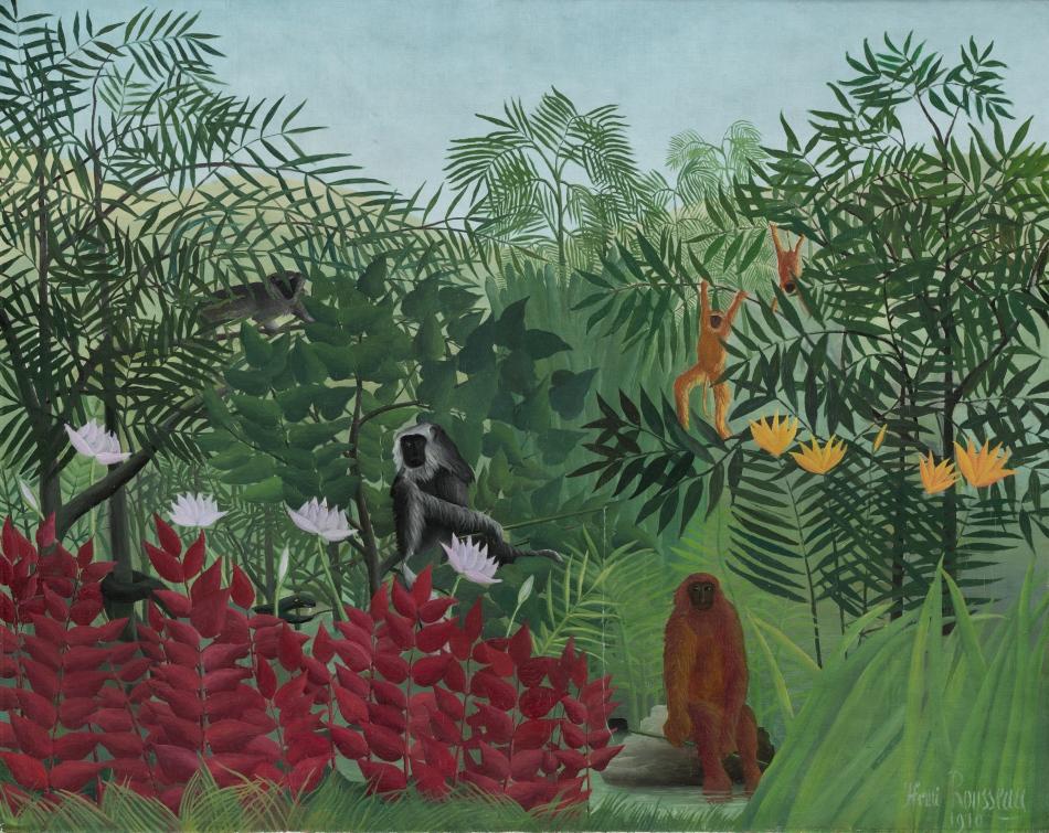 Forêt tropicale avec singes, Douanier Rousseau