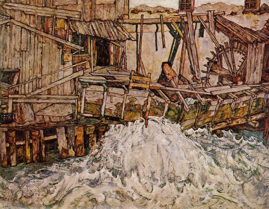 Le Moulin à eau, Schiele