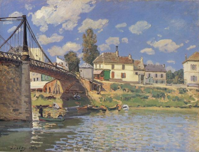 Sisley Pont Villeneuve-la-Garenne Metropolitan Museum