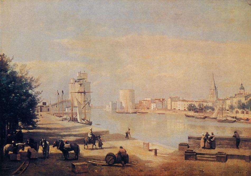 Le Port de La Rochelle, Corot