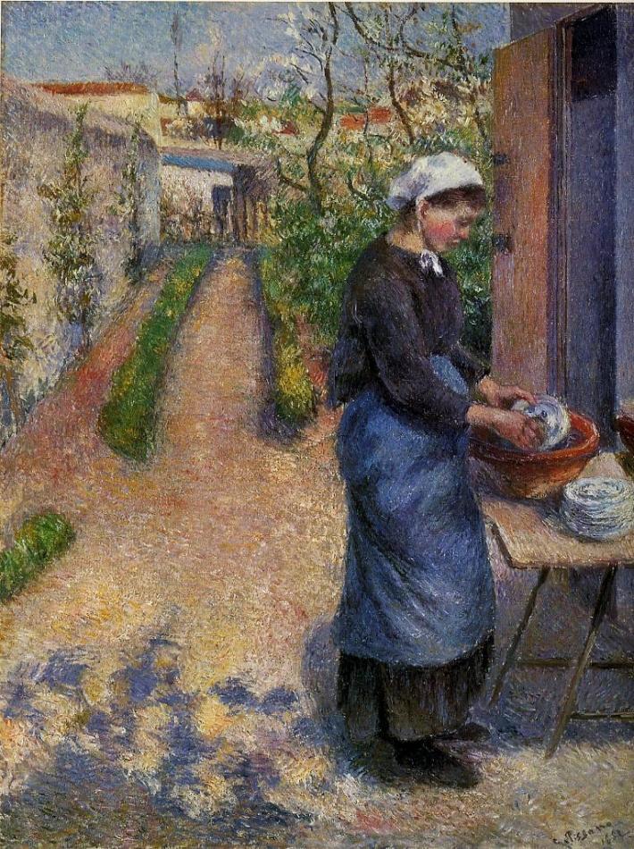 La Laveuse de vaisselle, Pissarro