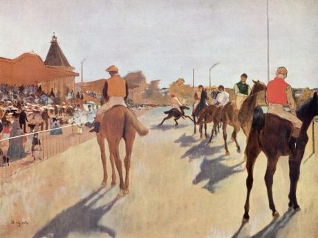 Le Défilé (Chevaux de courses devant les tribunes)