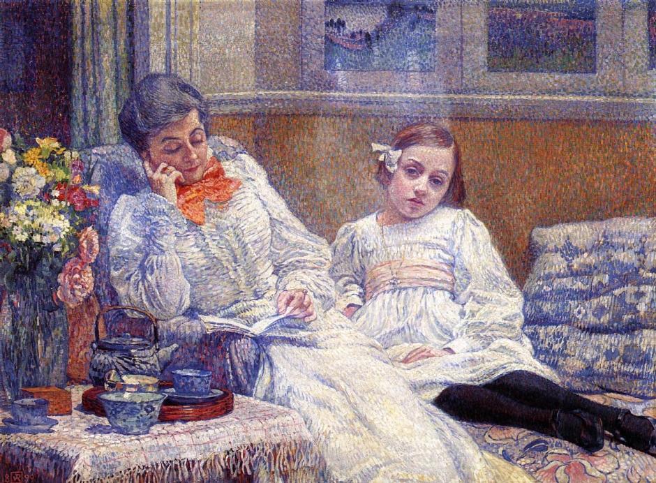 Madame van Rysselberghe et sa fille