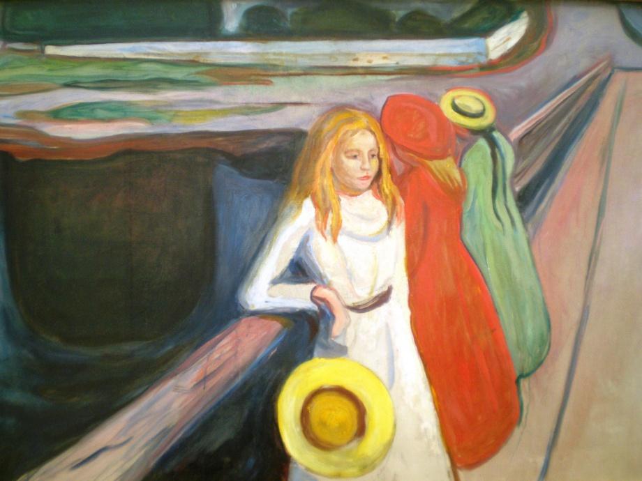 Jeunes filles sur le pont, 1901, Edvard Munch