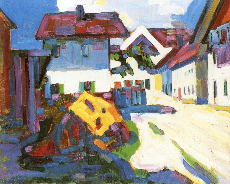 Rue à Murnau, Vassily Kandinsky