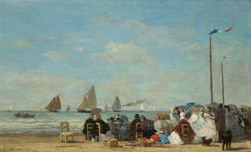Scène de plage à Trouville – Eugène Boudin