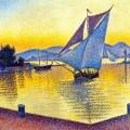 Le Port au crépuscule, Saint-Tropez – Paul Signac