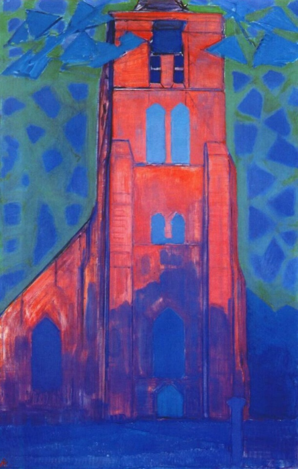 Église à Domburg, Piet Mondrian