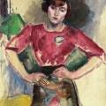 Hermine au chemisier rouge, Jules PascinPascin