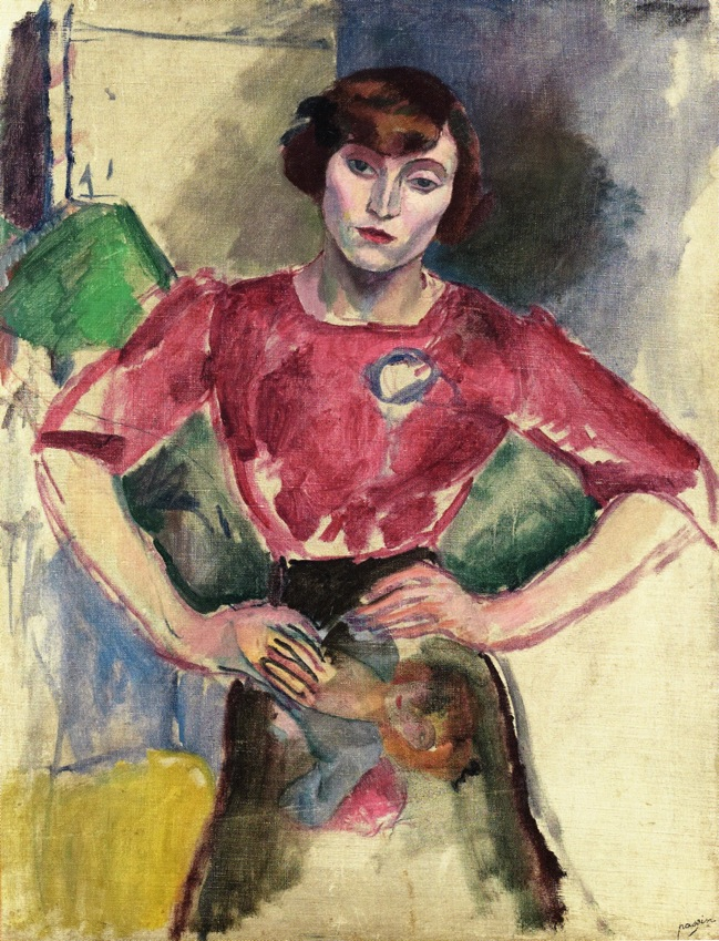 Hermine au chemisier rouge, Jules Pascin