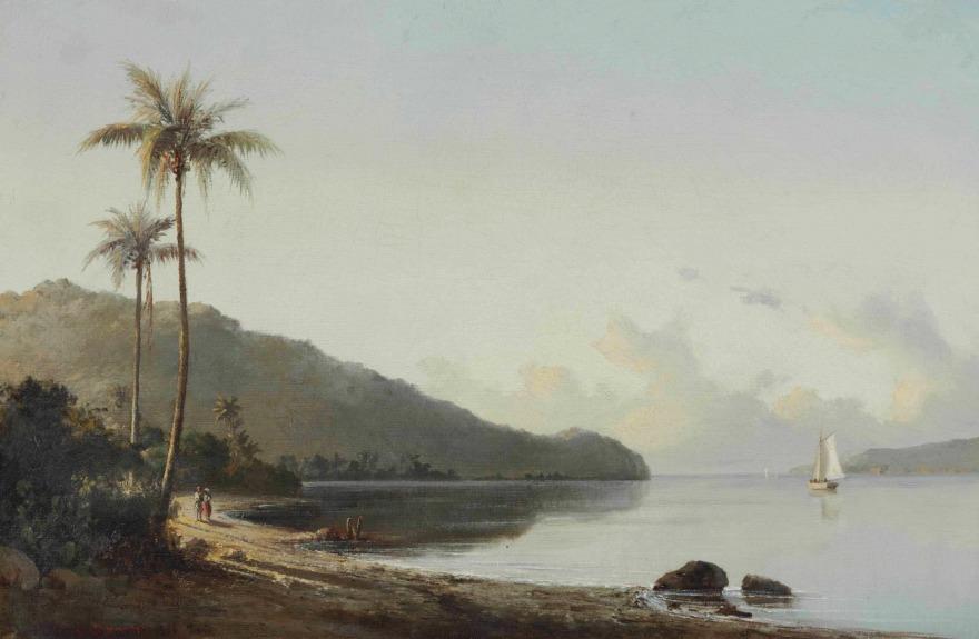 Crique avec voilier, Camille Pissarro