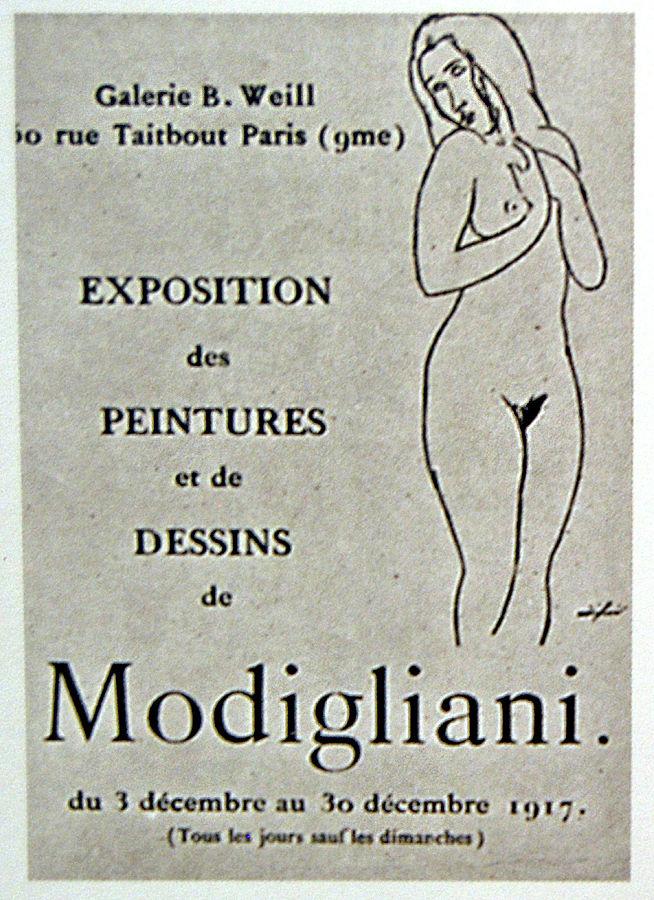 exposition berthe weill modigliani 1917