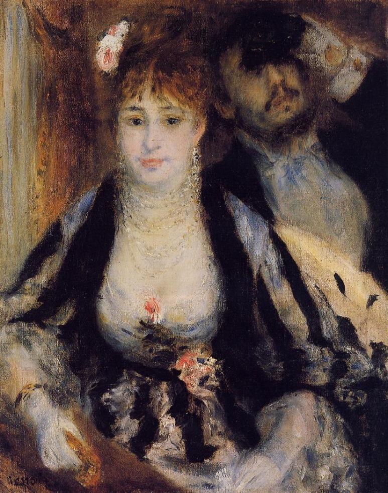 Renoir – La Loge (étude), 1874