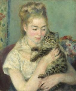 Renoir, Jeune Fille au chat