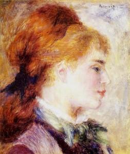 Renoir, Profil blond (Portrait de Nini Lopez)