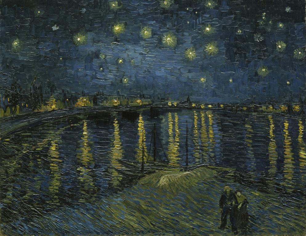 Van Gogh, Nuit étoilée sur le Rhône
