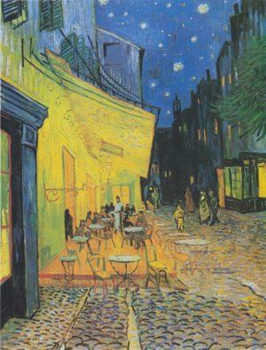 Van Gogh Café-Terrasse de la place du Forum à Arles, le soir