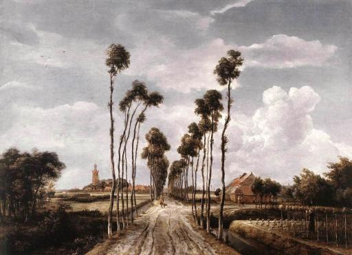 L'Avenue à Middelharnis, Meindert Hobbema