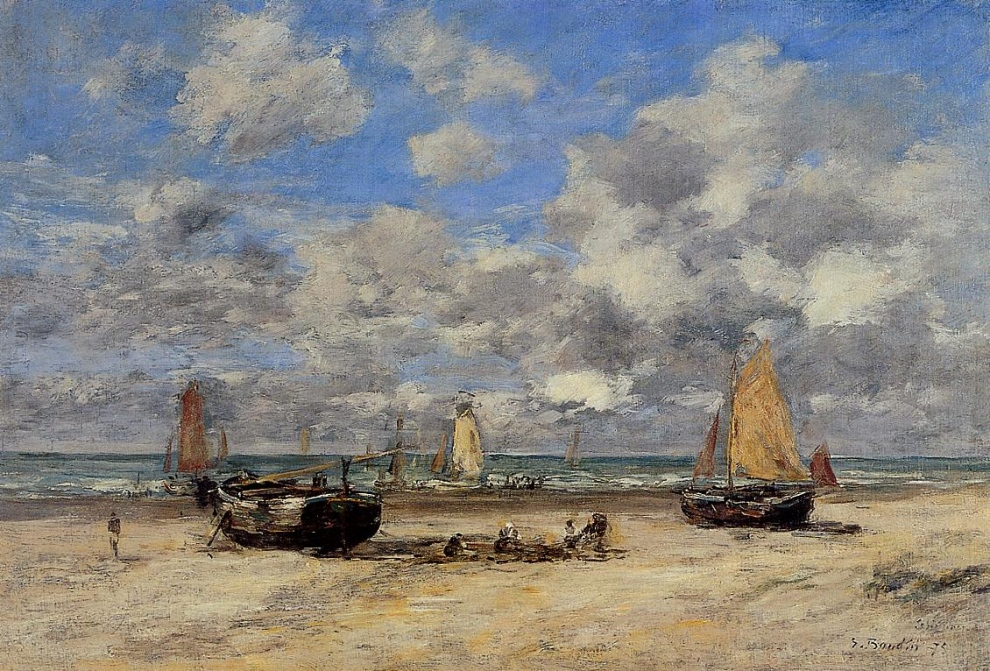 Marée basse à Scheveningen, Eugène Boudin