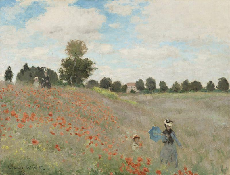 Coquelicots (La Promenade), Claude Monet