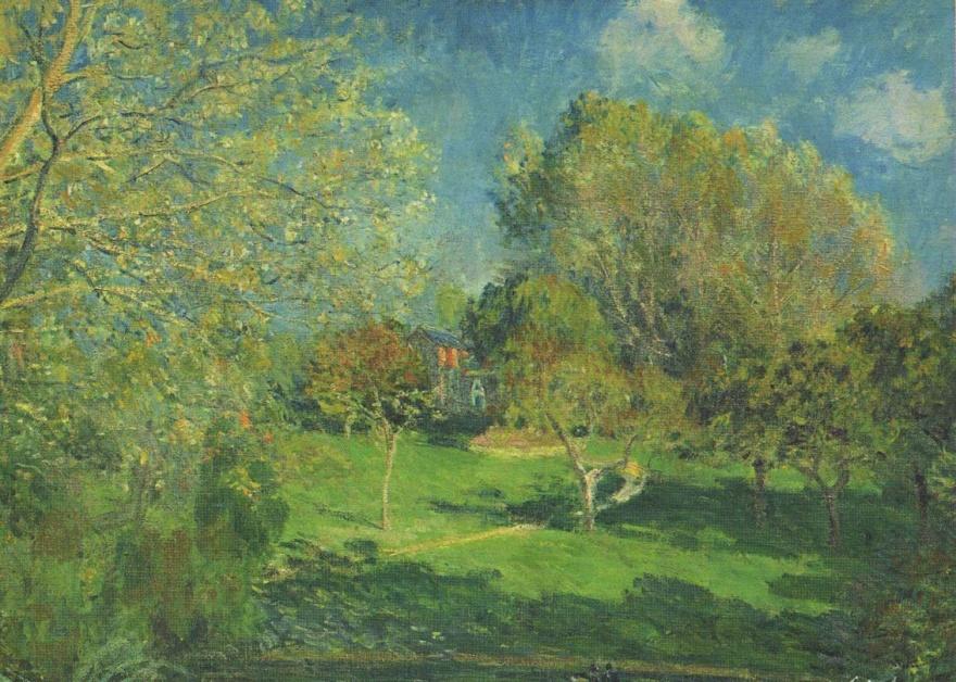 Sisley Le Jardin de M. Hoschedé à Montgeron