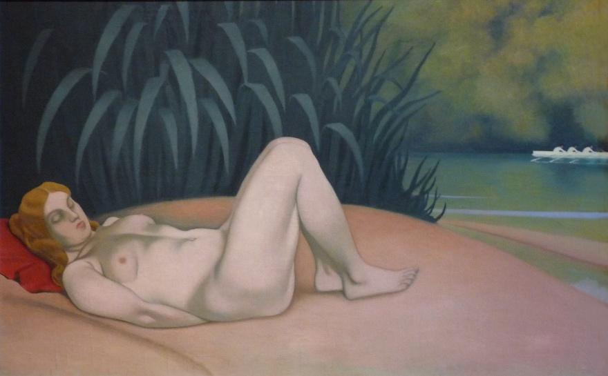 Félix Vallotton, Femme nue dormant au bord de l'eau