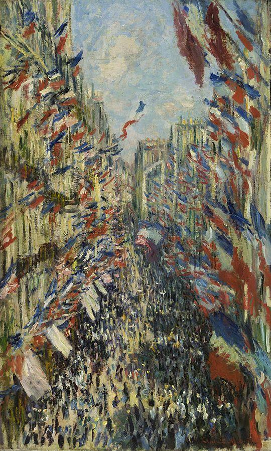 Claude_Monet, La Rue Montorgueil à Paris. Fête du 30 juin 1878