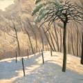 Vallotton Paysage de neige au bois de Boulogne
