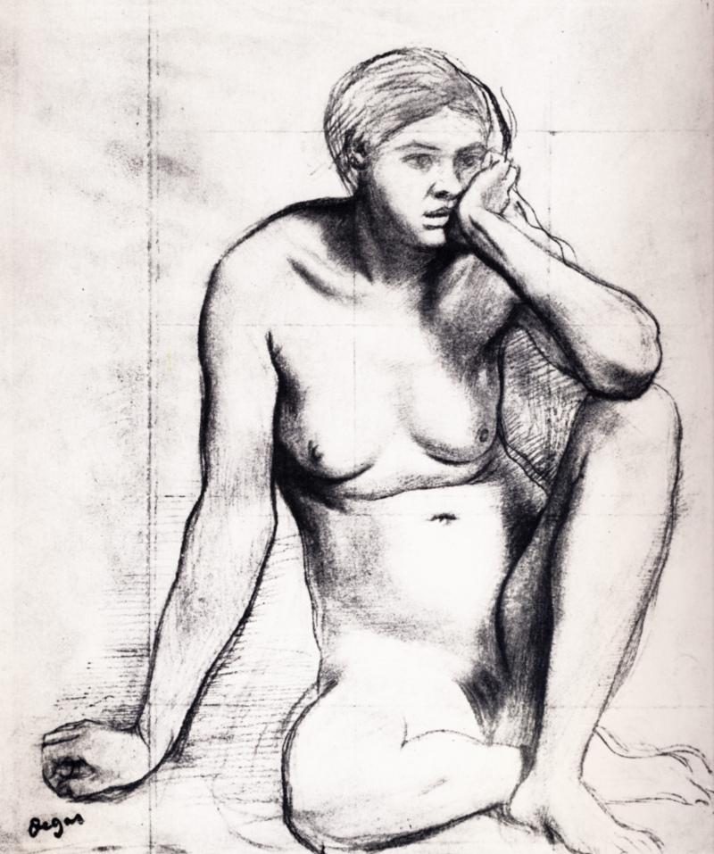 Étude pour Scènes de guerre au moyen âge, Edgar Degas