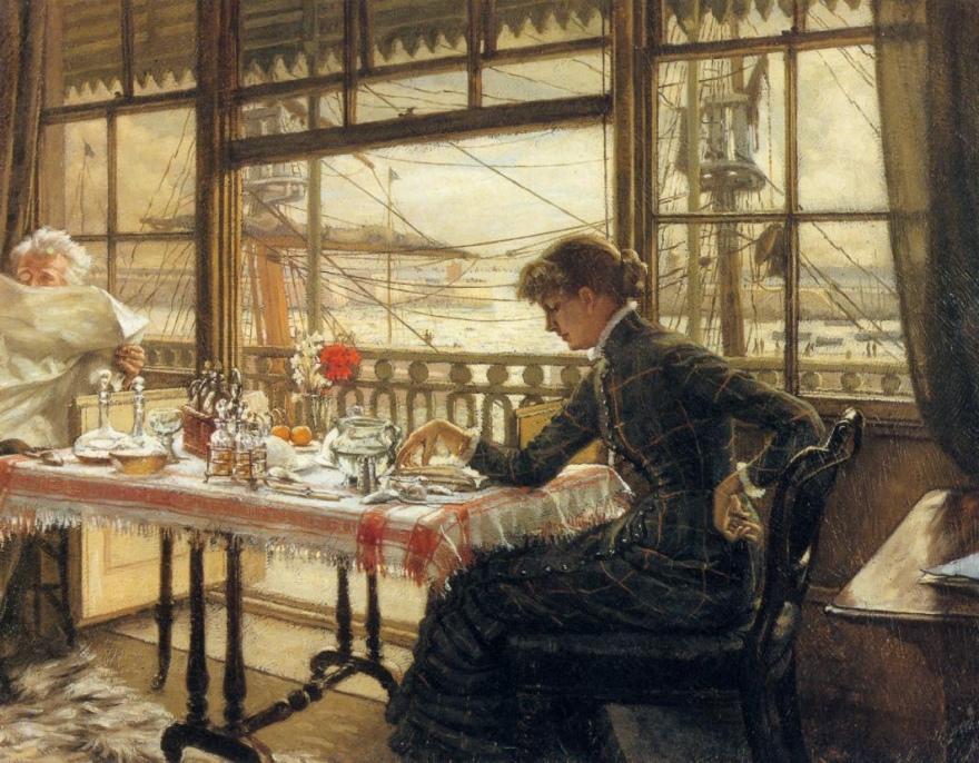 Chambre donnant sur le port, James Tissot
