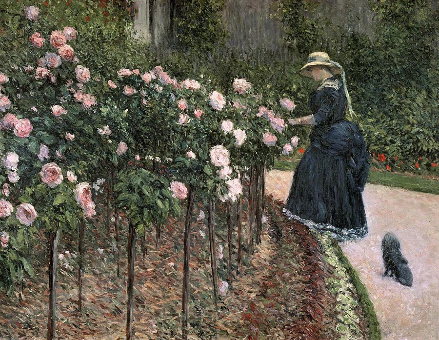 Roses dans le jardin au Petit-Gennevilliers, Gustave Caillebotte