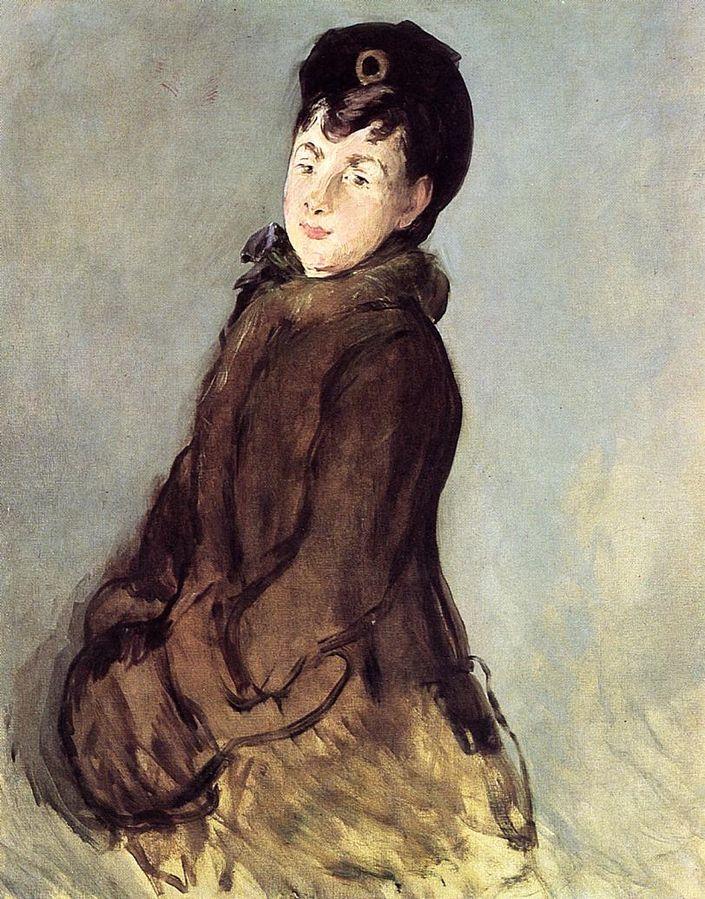Mademoiselle Lemonnier au manchon, Édouard Manet