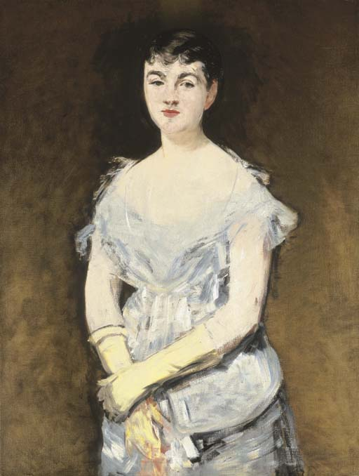 Isabelle Lemonnier en robe de bal, Édouard Manet