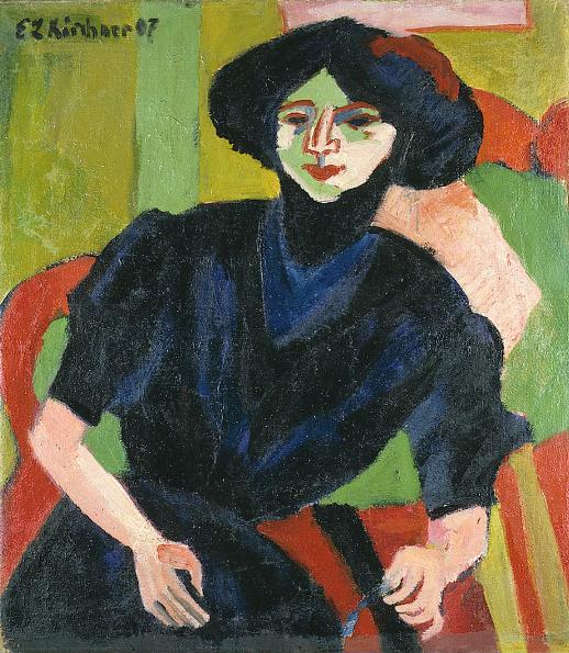 Portrait de femme Ernst Ludwig Kirchner