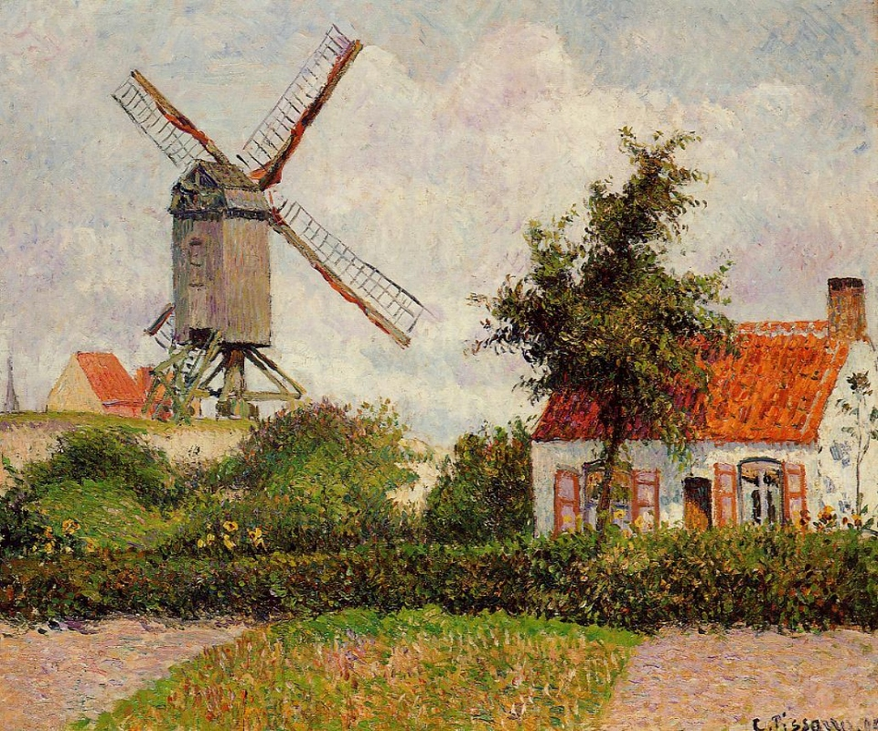 Le Moulin à Knokke, Camille Pissarro