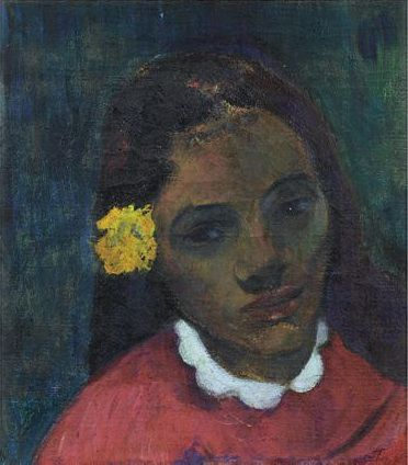 Tête de tahitienne (La Fleur qui écoute) Paul Gauguin