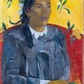Tahitienne avec une fleur, Paul Gauguin