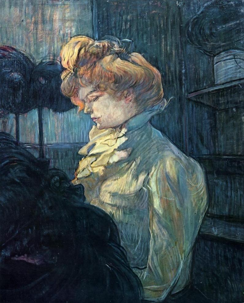 <i>La Modiste, M<sup>lle</sup> Margouin</i>, Toulouse-Lautrec