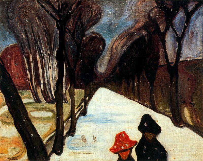 Neige tombant dans l'allée, Edvard Munch