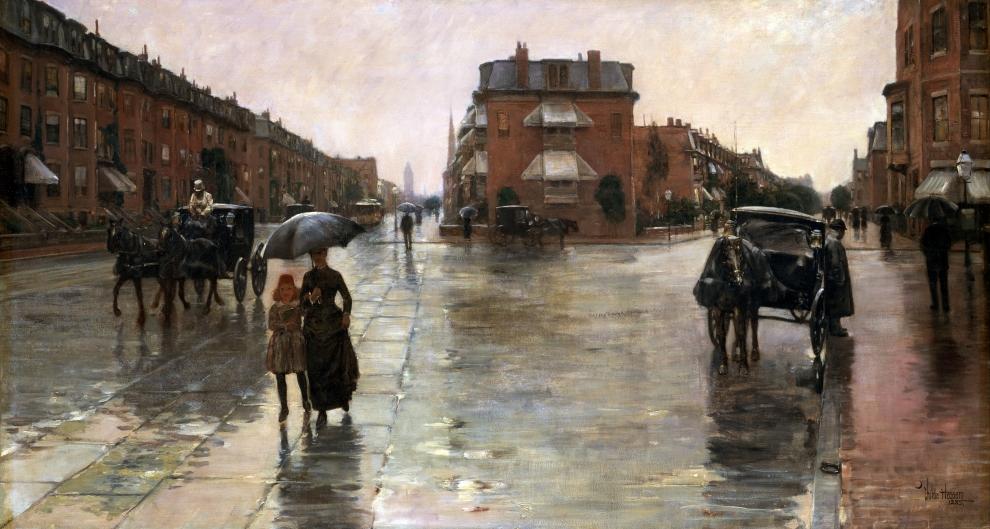 Jour de pluie, Boston, Childe Hassam