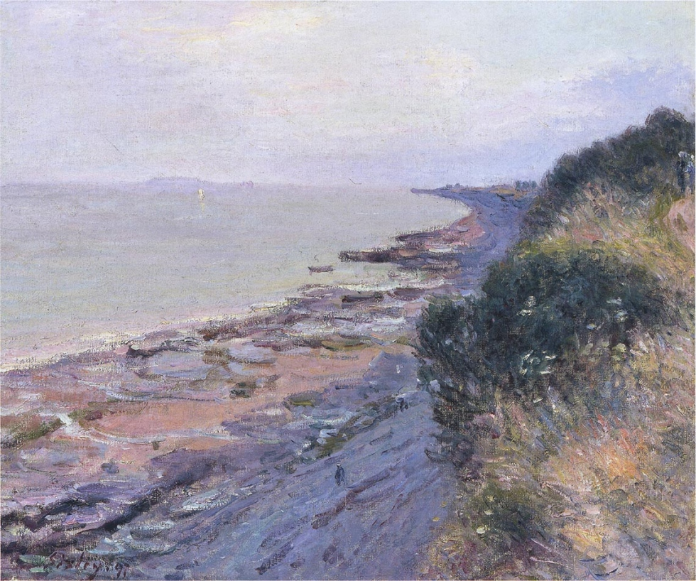 Falaises à Penarth, soir, marée basse, Alfred Sisley
