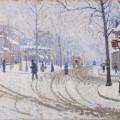 La Neige, boulevard de Clichy, Paul Signac