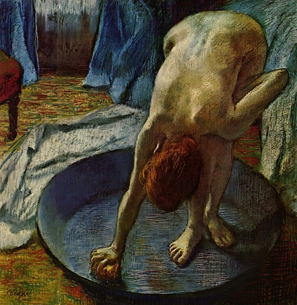 Femme au tub, Edgar Degas