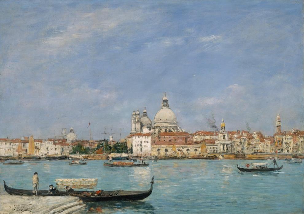 Venise, Santa Maria della Salute vue de San Giorgio, Eugène Boudin