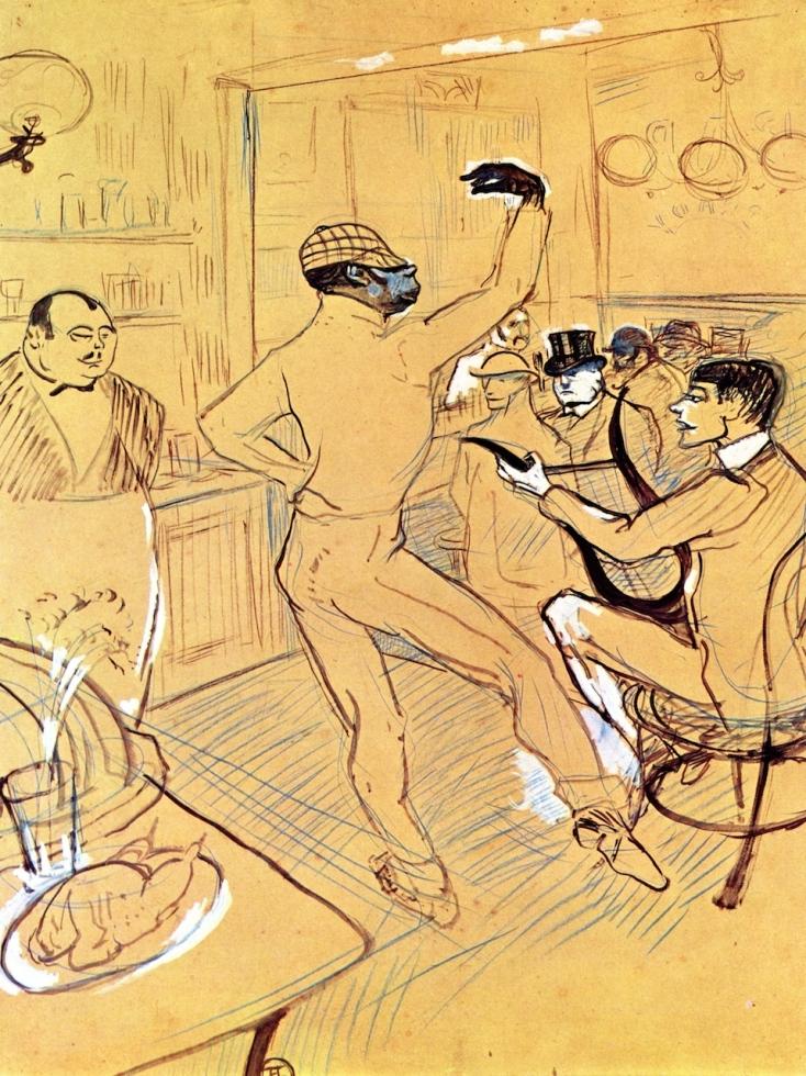 Chocolat dansant dans un bar, Henri de Toulouse-Lautrec