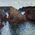 Rochers à Port Goulphar, Belle-Île, Claude Monet