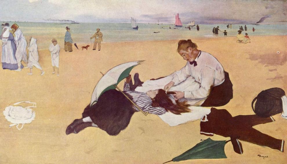 Scène de plage, Edgar Degas